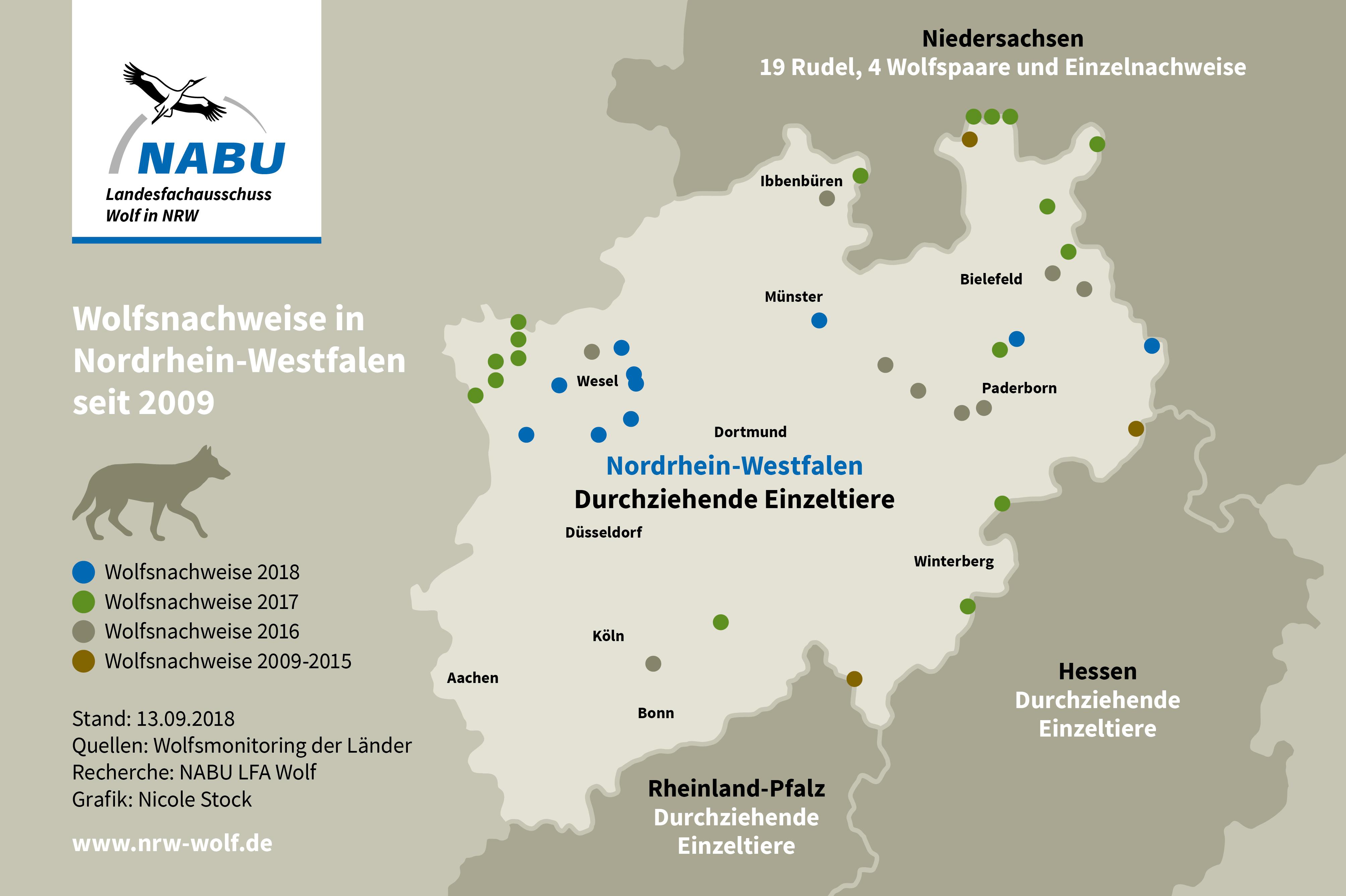 Wölfe In Brandenburg Karte.Landesfachausschuss Wolf In Nrw Nabu Wölfe In Nrw
